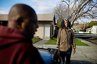 Patricia Fisher admits that she is scared, after hearing the recent crime wave in her city of of Vallejo, Ca., on Wednesday, Feb. 10, 2010.