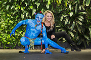 Cirque du Soleil perfomer as Avatar, Pullman Sydney Hyde Park, Sydney.