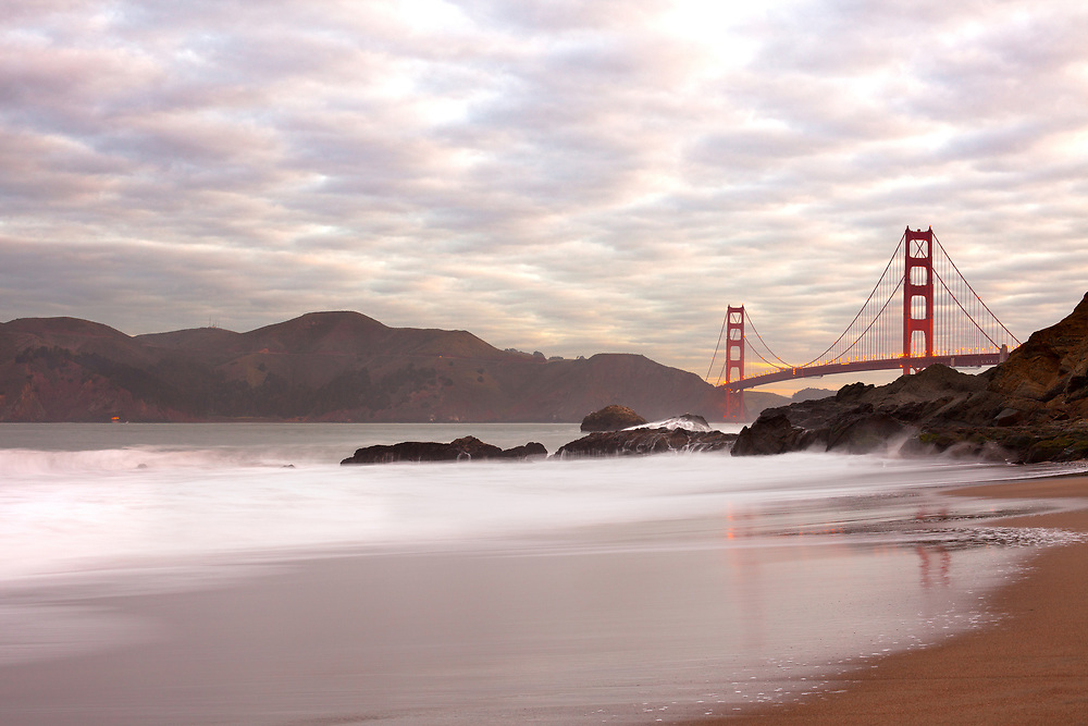 Golden Gate Bridge from Baker Beach, San Francisco, California, USA