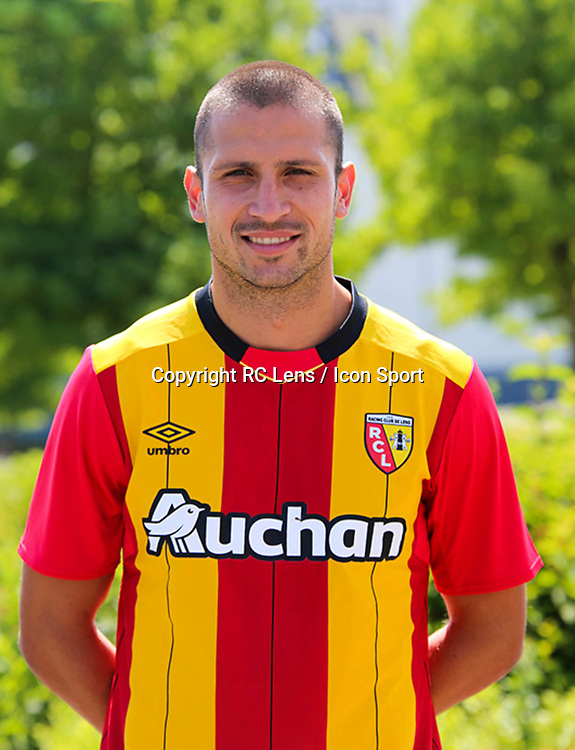 Dusan Cvetinovic during photoshooting of RC Lens for new season 2017/2018 on October 5, 2017 in Lens, France<br /> Photo by RC Lens / Icon Sport