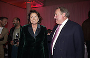 Mr. and Mrs. Anthony Oppenheim. De Beers launch of flagship store and new jewelry range.  New bond St. and afterwards at the In and Out Club. 21 November 2002. © Copyright Photograph by Dafydd Jones 66 Stockwell Park Rd. London SW9 0DA Tel 020 7733 0108 www.dafjones.com