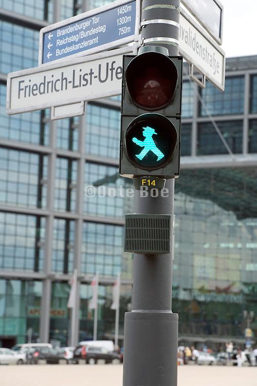 former East Berlin old style pedestrian traffic light