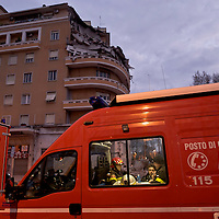 An appartment building is collapsed in Rome
