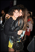ALICE ST. CLAIR; EMMA SHENKMAN, Sotheby's Frieze week party. New Bond St. London. 15 October 2014.