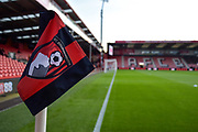 AFC Bournemouth corner flag during the EFL Cup match between Bournemouth and Brighton and Hove Albion at the Vitality Stadium, Bournemouth, England on 19 September 2017. Photo by Adam Rivers.