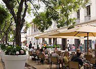 An outdoor cafe in Funchal, Madeira