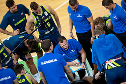 Team Slovenia during basketball match between National teams of Slovenia and Turkey in Round #8 of FIBA Basketball World Cup 2019 European Qualifiers, on September 17, 2018 in Arena Stozice, Ljubljana, Slovenia. Photo by Urban Urbanc / Sportida
