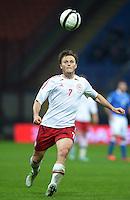 Fussball International  WM Qualifikation 2014   Italien - Daenemark                16.10.2012 William Kvist (Daenemark) mit Ball
