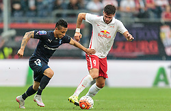 29.07.2015, Red Bull Arena, Salzburg, AUT, UEFA CL, FC Salzburg vs Malmoe FF, Qualifikation, 3. Runde, Hinspiel, im Bild v.l.: Yoshimar Yotun (Malmoe), Marco Djuricin (FC Red Bull Salzburg) // during the UEFA Championsleague Qualifier 3rd round, 1st Leg Match between FC Salzburg and Malmoe FF at the Red Bull Arena in Salzburg, Austria on 2015/07/29. EXPA Pictures © 2015, PhotoCredit: EXPA/ JFK