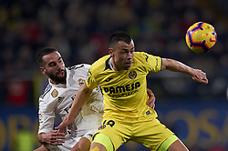 January 3, 2019 - Villarreal, Castellon, Spain - Daniel Carvajal of Real Madrid and Javi Fuego of Villarreal competes for the ball during the week 17 of La Liga match between Villarreal CF and Real Madrid at Ceramica Stadium in Villarreal, Spain on January 3 2019. (Credit Image: © Jose Breton/NurPhoto via ZUMA Press)
