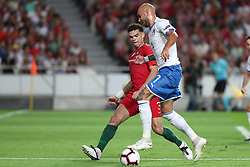 September 10, 2018 - Lisbon, Portugal - Italy's forward Simone Zaza (R ) vies with Portugal's defender Pepe during the UEFA Nations League A group 3 football match Portugal vs Italy at the Luz stadium in Lisbon, Portugal on September 10, 2018. (Credit Image: © Pedro Fiuza/ZUMA Wire)