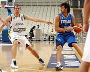 ATENE 22 AGOSTO 2007<br /> BASKET<br /> TORNEO ACROPOLIS<br /> ITALIA-LITUANIA<br /> NELLA FOTO: BASILE<br /> FOTO CIAMILLO-CASTORIA