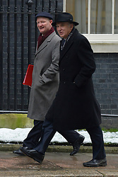 © Licensed to London News Pictures. 22/01/2013. Westminster, UK (L) David Willetts Minister of State for Universities and Science walks with Business Secretary Vince Cable.Politicians at Cabinet Meeting on Downing Street this morning 22 January 2012. Photo credit : Stephen Simpson/LNP