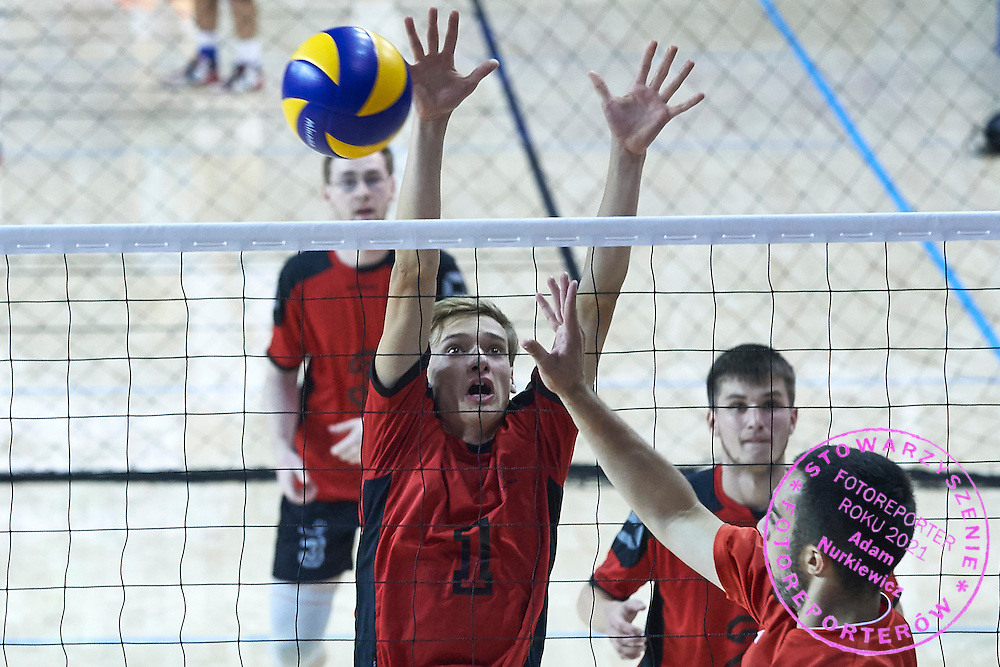 SO Germany athlete in action while Unified Volleyball match between SO Serbia and SO USA Germany during sixth day of the Special Olympics World Games Los Angeles 2015 on July 30, 2015 at Pauley Pavilion at UCLA (University of California Los Angeles) in Los Angeles, USA.<br /> <br /> USA, Los Angeles, July 30, 2015<br /> <br /> Picture also available in RAW (NEF) or TIFF format on special request.<br /> <br /> For editorial use only. Any commercial or promotional use requires permission.<br /> <br /> Adam Nurkiewicz declares that he has no rights to the image of people at the photographs of his authorship.<br /> <br /> Mandatory credit:<br /> Photo by &copy; Adam Nurkiewicz / Mediasport