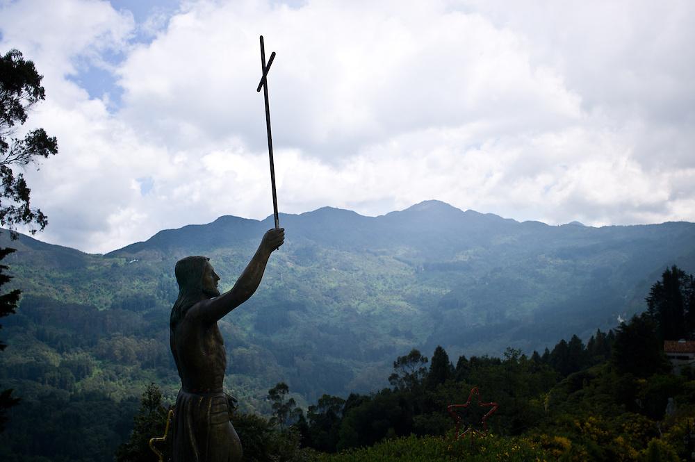 Statue of Jesus Christ on Monserrate near Bogotá, Colombia.