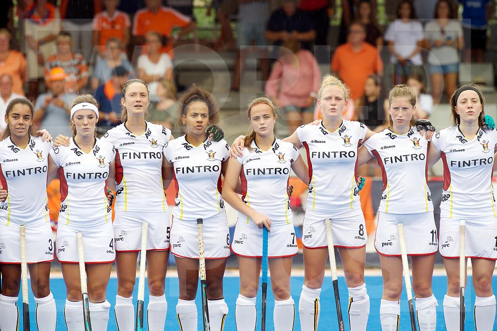 VALENCIA - 2017 EuroHockey Junior Championship<br /> 03 Netherland vs Belgium<br /> Foto:  Line Up<br /> WORLDSPORTPICS COPYRIGHT FRANK UIJLENBROEK