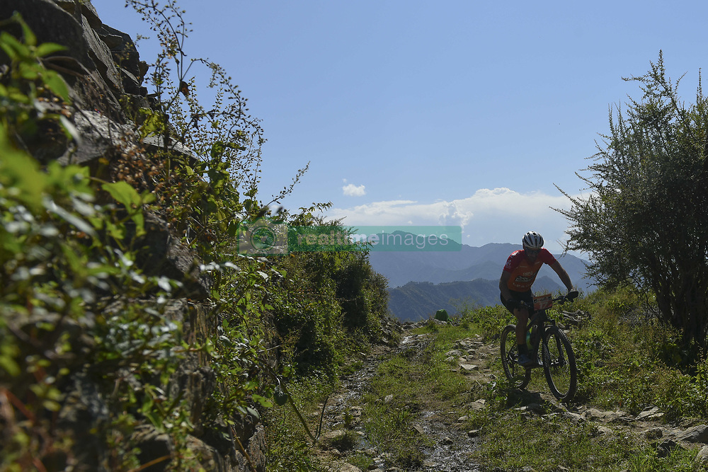 October 3, 2018 - Himachal Pradesh, India - Grant Usher of South Africa competes at the 14th edition of the Hero MTB Himalaya mountain bike race in the northern Indian state of Himachal Pradesh on 4th  October, 2018. The 14th edition of the annual cross country race is taking place over eight stages in the foothills of the Himalaya, started in Shimla on September 28, 2018 and finishing in Dharamshala on October 6,2018. (Credit Image: © Indraneel Chowdhury/NurPhoto/ZUMA Press)