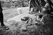 Fernch guiana, Comando 3, Inini.<br /> <br /> Orpaillage clandestin, reglement de comptes entre garimpeiros.