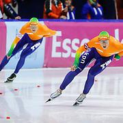 NLD/Heerenveen/20130112 - ISU Europees Kampioenschap Allround schaatsen 2013 dag 2, 1500 meter heren, Sven Kramer en Jan Blokhuijsen