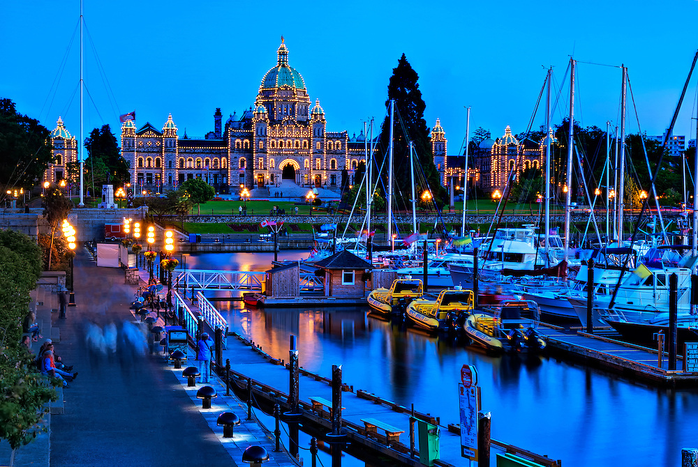 British Columbia Parliament Building, Inner Harbor, Victoria, BC