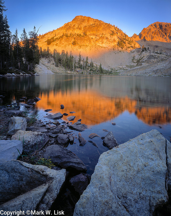 McGown Lake high in the Sawtooth Wilderness, Idaho.