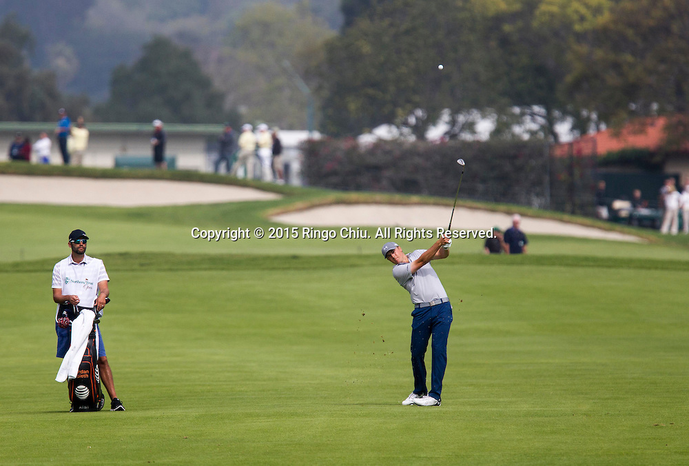 Jordan Spieth plays in the second round of the Northern Trust Open PGA golf tournament at Riviera Country Club in Los Angeles on Friday, February 20, 2015.(Photo by Ringo Chiu/PHOTOFORMULA.com)