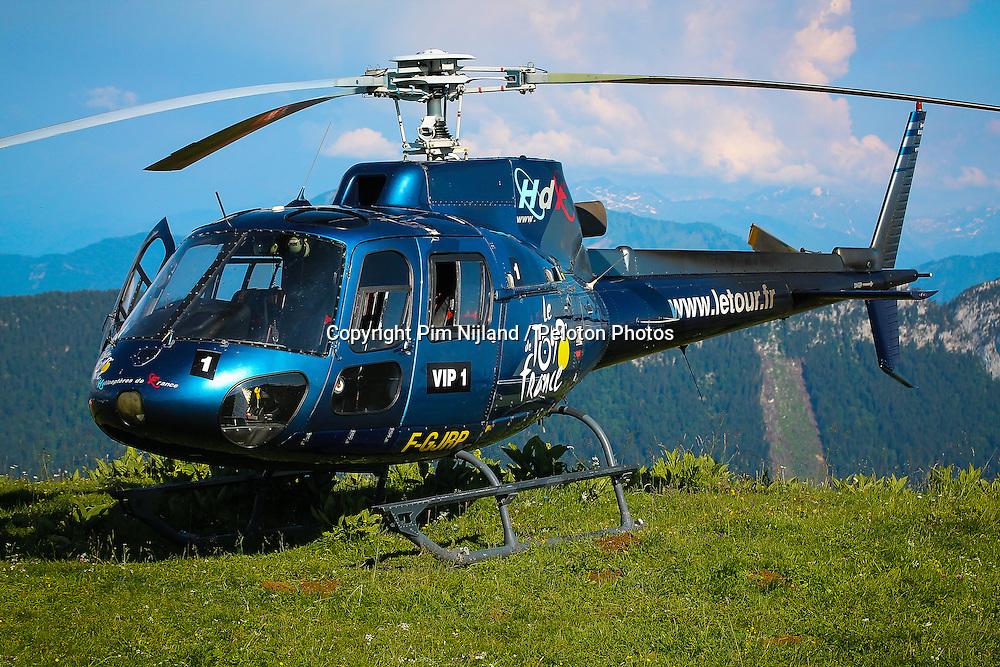 Col du Semnoz, France - Tour de France :: Stage 20 - 20th July 2013 - Tour de France helicopter vip 1