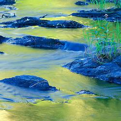 Summer reflections in the waters of the Lamprey River below Lee-Hook Road.  Lee, NH