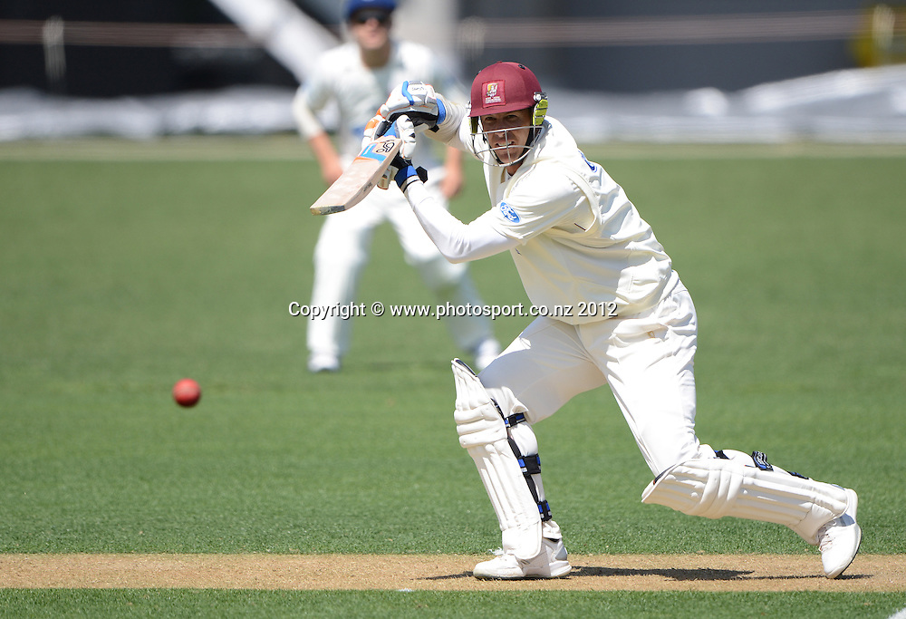 Northern's Joseph Yovich batting. Plunket Shield Cricket, Auckland Aces v Northern Knights at Eden Park outer oval. Saturday 10 November 2012. Photo: Andrew Cornaga/Photosport.co.nz