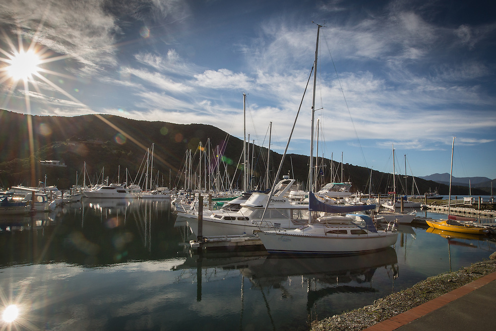 Marlborough Sounds Marinas - Waikawa.  August 2013.<br /> Copyright: Gareth Cooke/Subzero Images