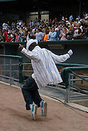 10th July 2009 - Gary, IN..Dal-shon Butler shows off his dance moves for the crowd...More than 6,000 people attended Michael Jackson's memorial service in his hometown took place at the Steel yard, Gary's minor league baseball park...Photo Credit: Heather A. Lindquist/SIPA...