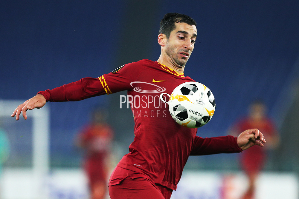 Henrik Mkhitaryan of Roma in action during the UEFA Europa League, Group J football match between AS Roma and Wolfsberg AC on December 12, 2019 at Stadio Olimpico in Rome, Italy - Photo Federico Proietti / ProSportsImages / DPPI