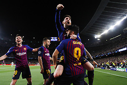 May 1, 2019 - Barcelona, Catalonia, Spain - May 1, 2019 - Barcelona, Spain - Uefa Champions League 1/2 of final second leg, FC Barcelona v Liverpool FC: Lionel Messi of FC Barcelona celebrates the 2-0. (Credit Image: © Marc Dominguez/ZUMA Wire)