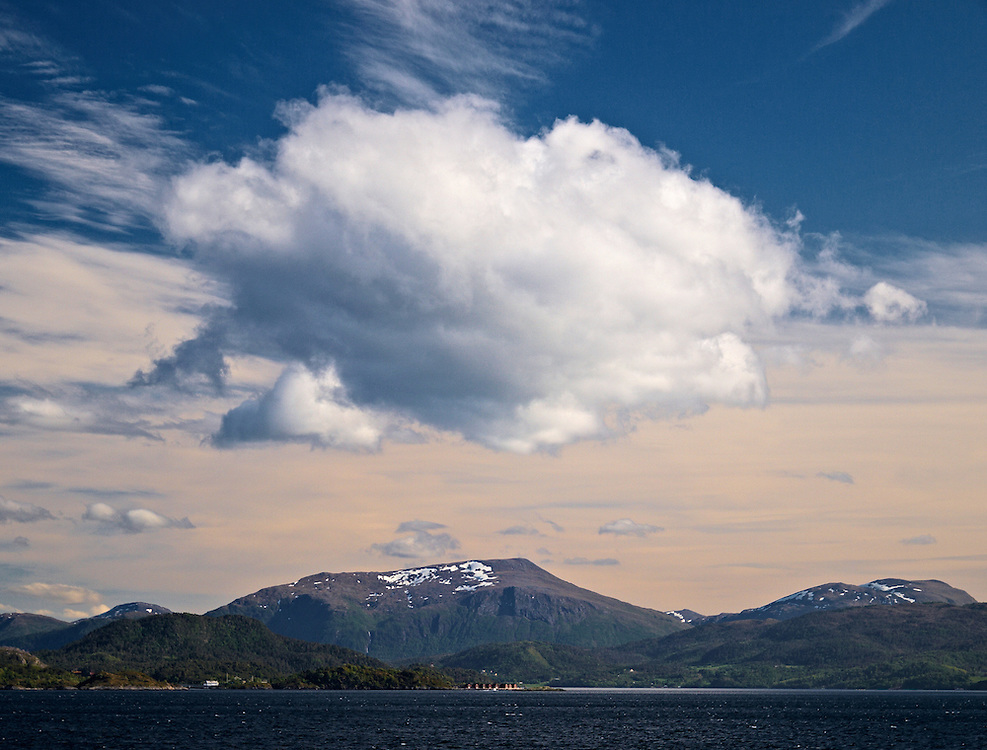 Norway - Cloud over Averoy island