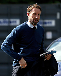 England Caretaker Manager Gareth Southgate arrives at The King Power Stadium for the Premier League fixture between Leicester City and Southampton - Mandatory by-line: Robbie Stephenson/JMP - 02/10/2016 - FOOTBALL - King Power Stadium - Leicester, England - Leicester City v Southampton - Premier League