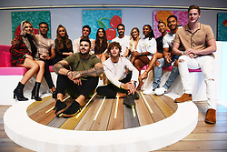 © Licensed to London News Pictures. 10/08/2018. London, UK. Laura Anderson and Paul Knops, Dani Dyer and Jack Fincham, Megan Barton Hanson and Wes Nelson, Kazimir Crossley and Josh Denzel, Samira Mighty, Alex George, Georgia Steel, Eyal Booker and Adam Collard attends Love Island Live event at the Excel Center. Photo credit: London News Pictures