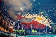 04-02-2016 VOETBAL:PSV-UTRECHT:BEKER:EINDHOVEN<br /> Supporters van FC Utrecht met spandoek<br /> <br /> Foto: Geert van Erven