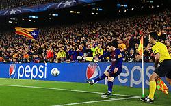 Barcelona fans look on as Lionel Messi takes a corner  - Mandatory by-line: Matt McNulty/JMP - 14/03/2018 - FOOTBALL - Camp Nou - Barcelona, Catalonia - Barcelona v Chelsea - UEFA Champions League - Round of 16 Second Leg