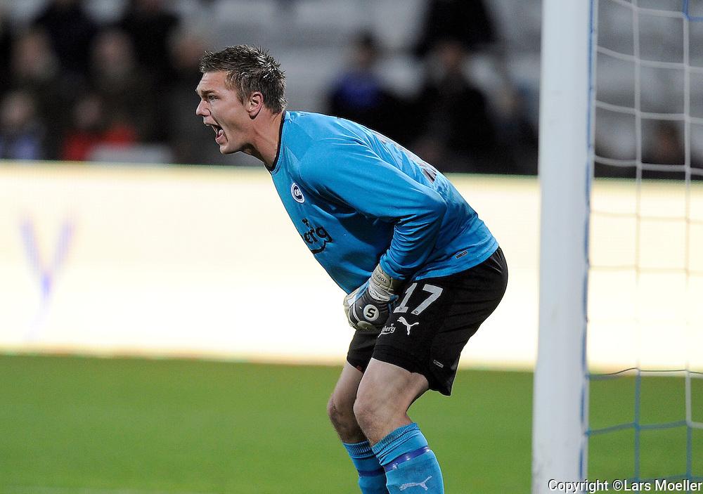Aarhus, Denmark, 20121028:.Goalkeeper Mads Toppel, OB Odense..Photo: Lars Moeller