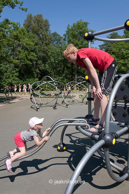Children at  Playground, Pärnu, Estonia