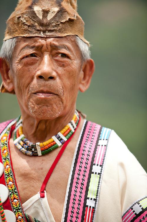 Bunun man at Aboriginal festival, Namasia Township, Kaohsiung County, Taiwan