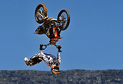 Freestyle Motocross rider Nick De Wit from South Africa takes part during the Pro X Games in Cape Town, South Africa 08 February 2009.The Pro X Games is South Africa's premier extreme sports event involving Freestyle Motocross (FMX), Wakeboarding, Bicycle Motocross (BMX) and Skateboarding. Top local and international riders compete over a two day event drawing large crowds to the Cape Town waterfront.