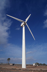Windmills for generating electricity on Gran Canaria; Canary Islands,