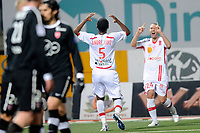 FOOTBALL - FRENCH CHAMPIONSHIP 2010/2011 - L1 - AS NANCY v VALENCIENNES FC - 20/11/2010 - PHOTO GUILLAUME RAMON / DPPI - JOY OF ANDRE LUIZ (NANCY) AFTER THIS GOAL
