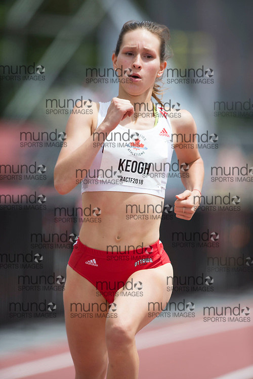 OTTAWA, ON -- 06 July 2018: Emmanuelle Keogh running in the 400m semi-final at the 2018 Athletics Canada National Track and Field Championships held at the Terry Fox Athletics Facility in Ottawa, Canada. (Photo by Sean Burges / Mundo Sport Images).
