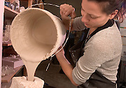 16693School of Art : Ceramics Inside Classroom Studio students..Lea Zoltowski