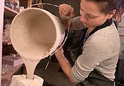 16693School of Art : Ceramics Inside Classroom Studio students..Lea Zoltowski