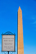 Washington Monument in Washington, DC, USA.