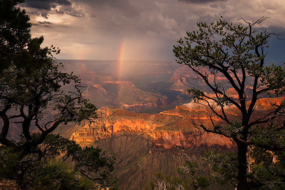 Rainbow, viewed from Yavapai Point on the South Rim of Grand Canyon National Park.
