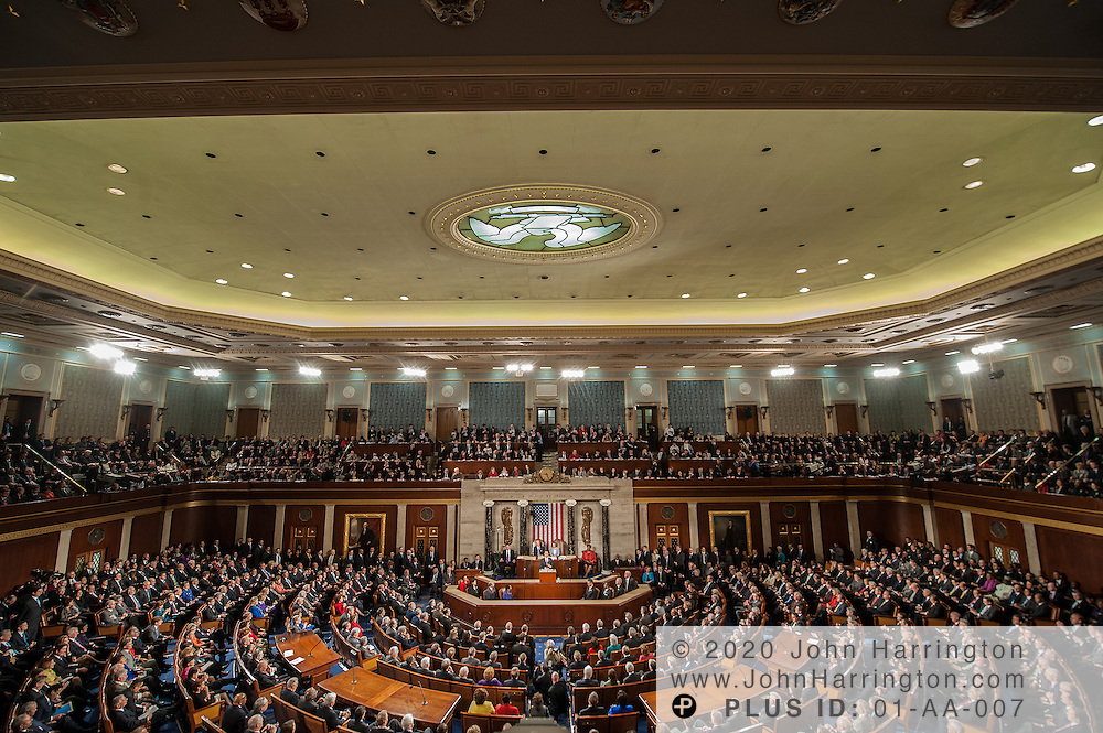 President Obama delivering the State of the Union Address